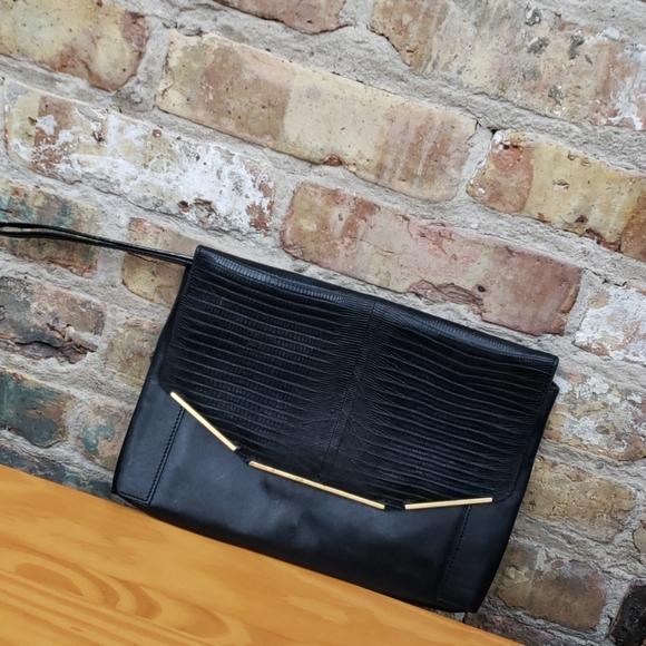 Lanvin Handbags - Lanvin Sartorial black leather Clutch